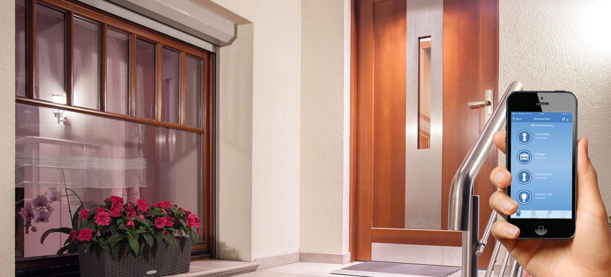 telefonos bejárati ajtó nyitó